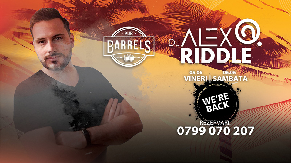 We're back to party with DJ Alex Riddle